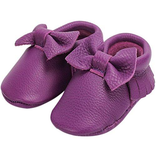 Fire Frog  Baby Fringe Shoes, Baby Mädchen Lauflernschuhe Violett