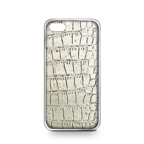 Celly Cover Crocodile per iPhone 6, Champagne