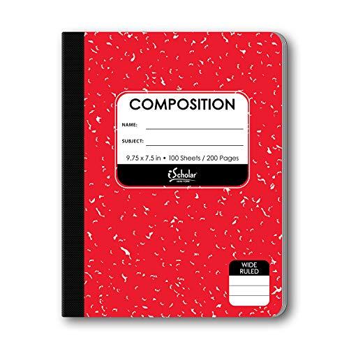 ischolar farbigen Marmor Zusammensetzung Bücher 100 Sheets verschiedene Farben