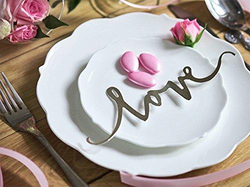 Tischdeko Schriftzug LOVE, 6 Stück