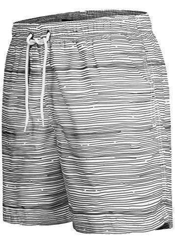 Occulto Herren Männer Badehose in vielen Farben | Badeshort | Bermuda Shorts | Beachshort | Slim Fit | Schwimmhose | Boardshort | Jungen (L, Anthrazit)