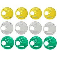 12 PCs 68mm ruche portes porte apiculture portes d'entrée équipement outil de contrôle d'accès multi couleur