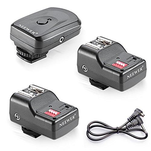 Neewer 16 Kanal Wireless FM Speedlite Funkauslöser mit 2,5 mm PC Empfänger für Speedlite Einheiten mit Blitzschuh