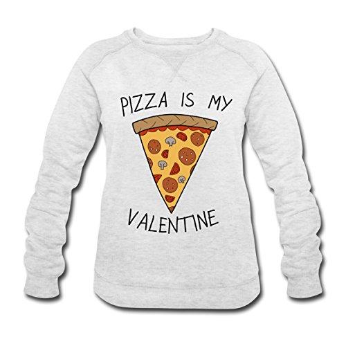Sans-Valentin Pizza Is My Valentine Humour Sweat-shirt Femme Stanley & Stella de Spreadshirt® gris crème chiné