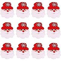WINOMO 12pz Natale Spilla Pin LED Twinkling partito regalo Bomboniere - Babbo Natale - Pupazzo Pin Spilla