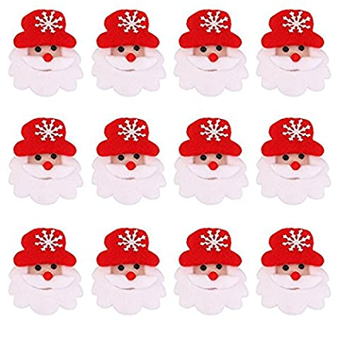 FENICAL 12pcs LED Weihnachten Brosche Pin Party Geschenke