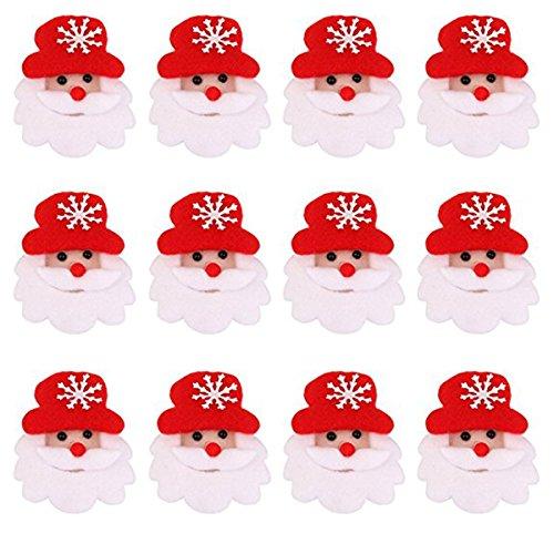 ROSENICE 12pcs LED Brosche Pin Weihnachts Dekoration