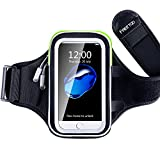 FREETOO Running Armband with Earphone Holes & Triple Pockets for Hiking Walking Jogging Gym Suitable for iPhone 6 Plus iPhone 7 Samsung Galaxy S7 Edge
