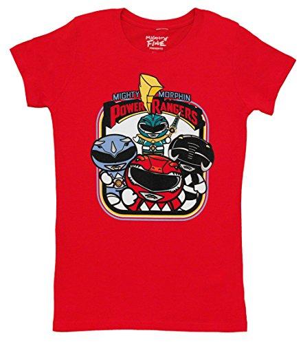 Power Rangers Herren Hoodies T-Shirt rot rot Gr. XL, (Hoodie Power Rangers)
