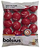 Bolsius Floating Candles in Bag Set of 20 Old Red by Bolsius