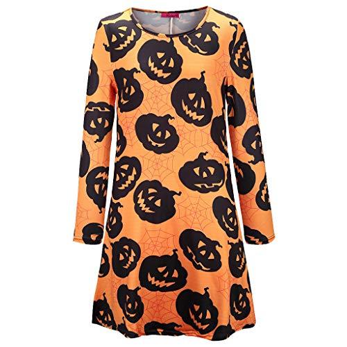 Imagen de vestido para mujeres,halloween para mujer casual vestido de mujer cosplay ropa de halloween vestimenta actuación festival faldas de calabaza floral de la navidad de la navidad mujeres