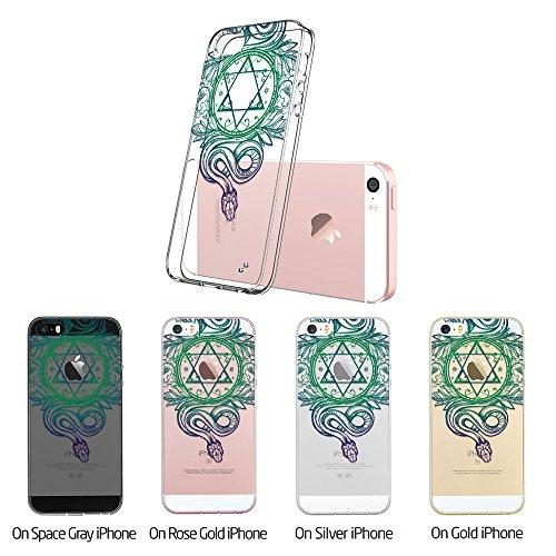 iPhone SE Hülle, ESR® Totem Bildserie Weiche TPU Rahmen mit Hart PC Zurück mit Bändsel Loch Schutzhülle für iPhone SE 5S 5 (Manjusaka) Hexagram