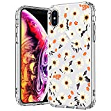 MOSNOVO Coque iPhone XS, Coque iPhone X,Marguerite Floral Flower Blossom Fleur Clair...