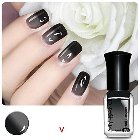 Ularma Thermique Des ongles Vernis Changeant de couleur Décollez Vernis Beauté Sexy Produit de beauté V