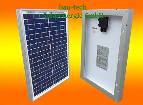 1 Stück 20 Watt Solarmodul Solarpanel Photovoltaik Solarzelle NEU von bau-tech Solarenergie GmbH