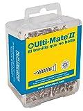 Ulti-Mate II B40040L Caja Grande con Tornillos de Alto Rendimiento para Madera Acabado ZINCADO de 4,0 x 40 mm, Set de 100 Piezas