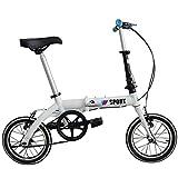 Star Eleven Faltbare Fahrräder mit Platte Aluminium Fahrrad Reifen mit Mini-Fahrrad, faltbar, weiß