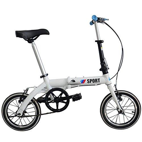 Star Eleven pliante vélos double disque en aluminium Fahrrad Adulte Mini Bike Vélo pliable, blanc