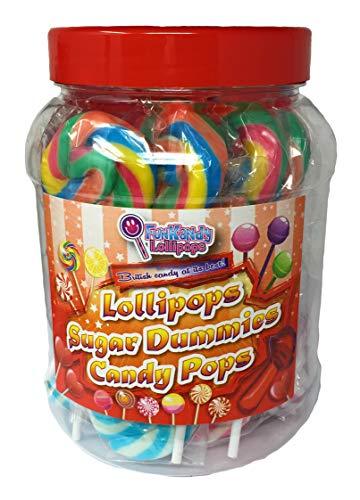 Code 0938 Fun Kandys gemischte fruchtige Swirl-Lutscher mit Candy Heart - Packung mit 25 Stück