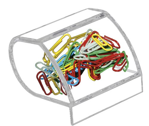 Clip Holder Paper (Paper Clip Holder, Acrylic, 3 x 2 3/4 x 3 1/2, Clear)
