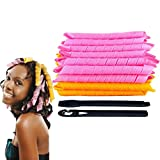 Gxma 50 cm Rollers Roll Curling Tongs Hair Curler Roller Pack of 40 Anewone Hair Styling Tools DIY Magic Twist Spiral Circle Curlformers Rollers + 2 Hair Maker Styling Tool