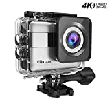 VIKCAM 4K Action Kamera 20MP FHD Actioncam WiFi 2.31 Zoll LCD Touchscreen Wasserdichte Kamera Ultra...