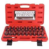 Cocoarm 23 tlg Auto Entriegelungswerkzeug Auspinwerkzeug Steckkontakte ISO Stecker Werkzeug Entriegelung Lösewerkzeug für KFZ