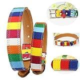 Balock Schuhe Welpen Hundehalsbänder,7 Bunte Streifen Exquisite Welpen Hundehalsbänder,Einstellbare Schnalle Welpen Hundehalsbänder,für Mädchen Jungen (XS)