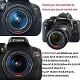 58mm Paraluce set per Canon EF-S 18-55mm e altri obiettivi da...