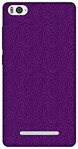The Racoon Lean Mesh Purple hard plastic printed back case / cover for Xiaomi Mi4i