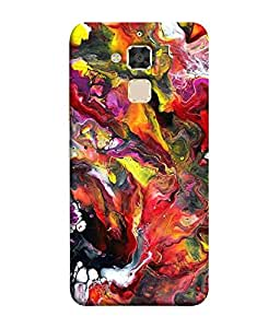 Fuson Designer Back Case Cover for Asus Zenfone 3 Max ZC520TL (5.2 Inches) (Paint water paint Shaded Mixed colourful)