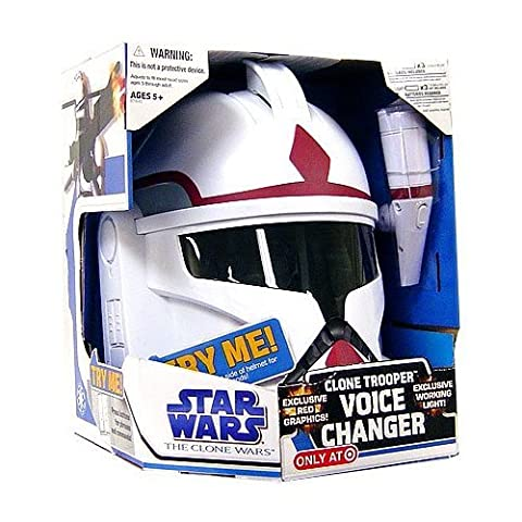 Star Wars Clone Wars Roleplay Toy Exclusive Voice Changer Clone Trooper Commander [Red Stripe]