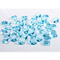 100 Diamanten türkis 12mm Tischdekoration Streuartikel Hochzeit Taufe