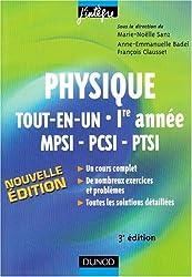 Physique tout-en-un MPSI-PCSI-PTSI 1e année : Cours et exercices corrigés