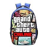 CHANG Mochila para Niños Mochila Escolar Impresa En 3D Grand Theft Auto Rider Mochila Escolar Adolescentes,G