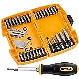 DeWalt DT71506-QZ Set de 30embouts de tournevis dans étui type Tough Case Embouts de vissage 25mm : PH1x 2, PH2x 2, PH3x 1, PL8x 1, PZ2x 7, PZ3x 3, T10x 2, T15x 2, T25x 2, T30x 2, porte-embouts magnétique, clés à douille 8et 10mm, embouts de 50mm : PH2x 1, PZ2x 1, tournevis
