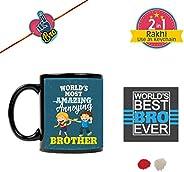 YaYa Cafe Birthday Bhaidooj Gift for Brother Most Annoying Brother Mug with Printed Birthday Bhaidooj, Roli-Ch