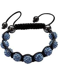 """Bracelet Bling Bling - Boule cristal Clair - Habille joliment a tous les poignets - fait un cadeau idéal - Emballé dans une jolie pochette en velours - Taille: 7"""" à 9"""""""