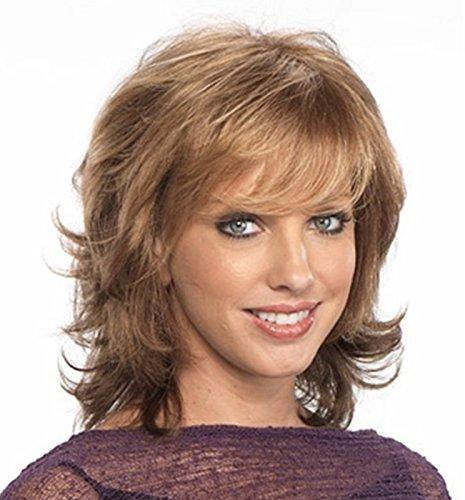Medusa Hair Fashion Art-Perücke synthetische lockige mittlere Länge Voll Bangs Blonde Perücke für Frauen 0014