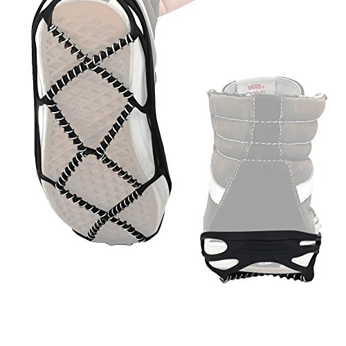 VGEBY VGEBY Schnee Schuhe Griffe Rutschfeste Spikes Durable Eiskralle Steigeisen Gummi für Outdoor Ski Wandern Klettern 1 Paar