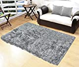 #6: Glamkaart Grey Both Side Usable Soft Shaggy Fur Rug 3x5 Feet - Navratre Special Offer Price - Grab This Offer