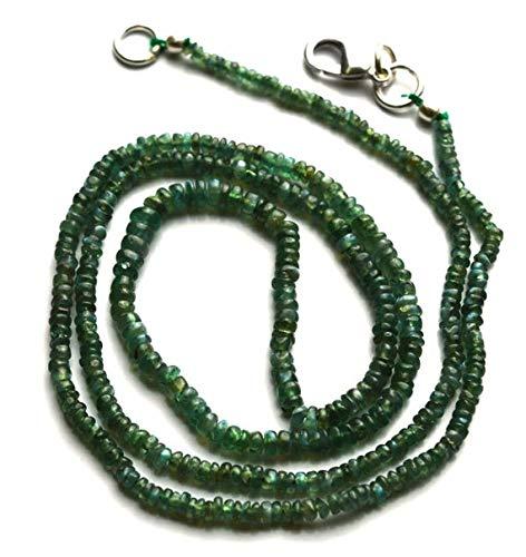 Lovekush beads pietra preziosa 1 filo di perle di crisoberile naturale di alessandrite liscio, collana lunga 48,3 cm, finitura rara 2-3,5 mm, codice rr-22124