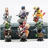Figura de acción: Naruto Cute Figure Playset of 6 PCs 3.7 inch