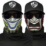 SA Company Face Shield Sturmhaube **verschiedene Designs** Multiunktionstuch Maske Fishing Totenkopf Schal Skull Bandana Gesichtsmaske Halstuch (2-Sided)