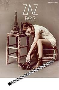 Zaz - Paris Partition pour claviers - vocale et guitare avec crayon de piano [sheet music/Noten]