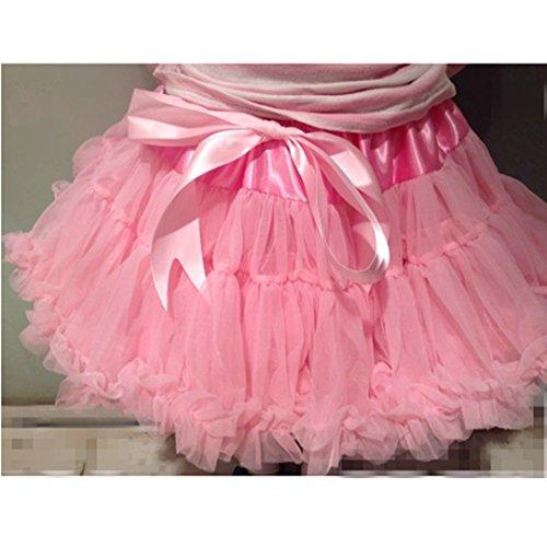 Buenos Ninos Jupe pour bébé fille style tutu de danse avec volants superposés Rose - Rose
