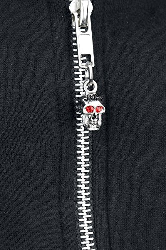 Jawbreaker Full Beast Skull Sweat à capuche zippé noir Noir