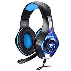 BlueFire 3.5mm Gaming Kopfhörer Komfortable Over-Ear Wired Headset mit Mikrofon für PS4 / Xbox One/Xbox one s/Computer/PC/Handys