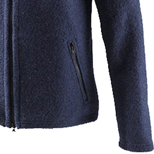 Mufflon Joe, Wolljacke mit Kapuze und Stehkragen, dark blue - blue dark blue S71