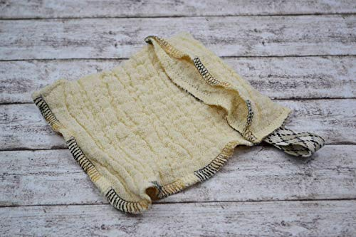 Seifensäckchen aus Bio-Baumwolle, 2 Stück, Seifenbeutel waschbar, Aufbewahrung Seifenreste, Seifentasche wiederverwendbar, Seife trocknen, umweltfreundlich, nachhaltig, natur, Zero Waste, Lunaciel